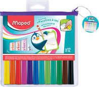 MARKER'PEPS whitebordviltstiften assorti kleuren - in etui x 12