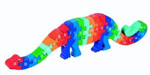 Dinosaurus alfabet puzzel 26 delig.