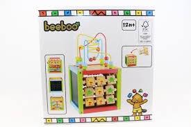 Beeboo houten activiteiten leer kubus.