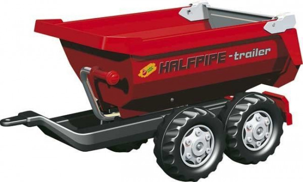 Rolly Toys aanhanger Half pipe trailer