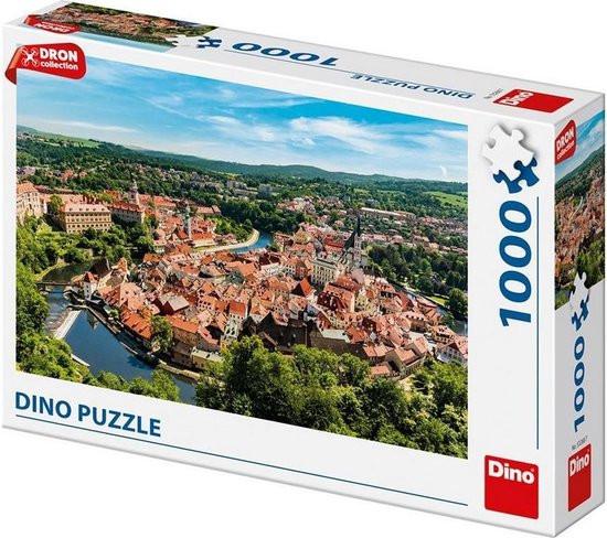 Dino puzzel van de stad Český Krumlov van 1000 stukjes.