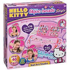Aqua beads Hello kitty nail art studio