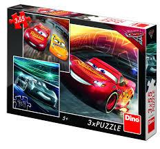 Dino puzzels 3 x 55 stukjes van Cars.