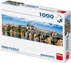 Puzzel stad praag met kasteel. 1000 stuks.