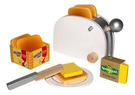 Tanner golden toast set ,houten broodrooster incl. brood en boter.