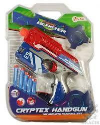 Foam blaster handgun met soft pijltjes