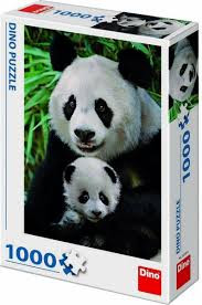 Puzzel Panda Familie 1000 stukjes