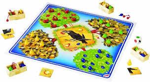 Haba spel boomgaard , een coöperatief geheugenspel.