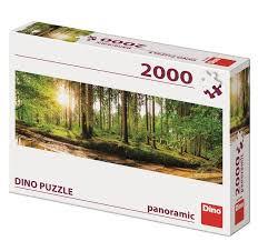 Dino puzzel panorama bossen 2000 stukjes.