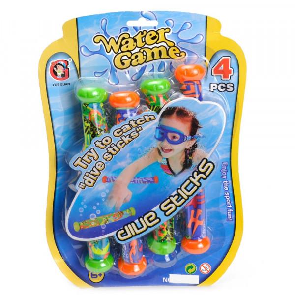Water game opduik sticks 4 stuks.