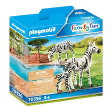 Playmobil 3 zebra familie 70356