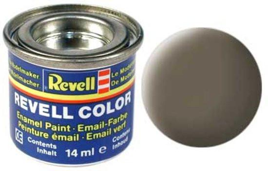 Revell verf voor modelbouw kaki mat nummer 86