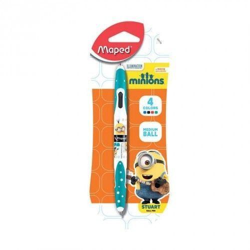 Minions 4 kleuren pen
