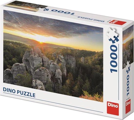 Dino puzzel berglandschap rock town ,1000 stukjes.