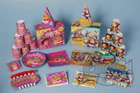 Party pack 6 personen meisjes