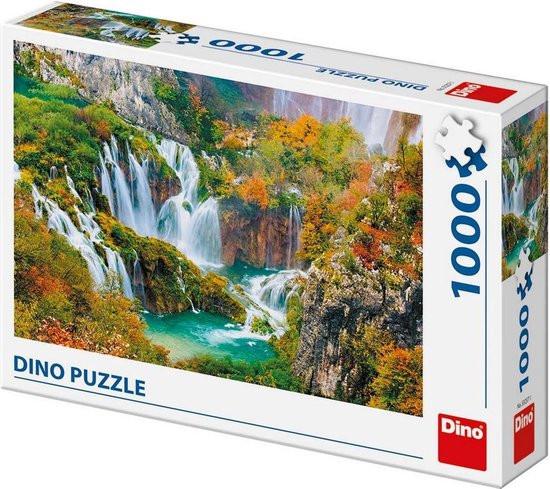 Dino puzzel watervallen van Plitvice lakes kroatië 1000 stukjes.