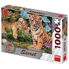 Dino Secret Puzzel Tijgerbabies 1000 Stukjes