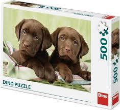 Legpuzzel van 500 Stukjes van Twee Labrador Puppies