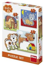 Puzzel dieren puzzel 4 in 1 .