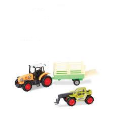 Speedzone tractor met aanhanger en verreiker