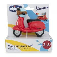 Chicco mini vespa scooter met pullback.