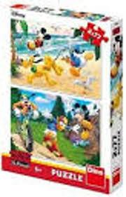 Disney puzzel Mickey mouse en friend 2 x 77 stukjes.