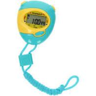 Toitoys stopwatch blauw geel.