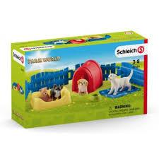 Schleich puppy verzorgingset 9 delig.