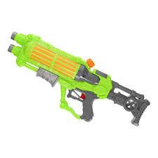 Groot waterpistool in wit of groen leverbaar.