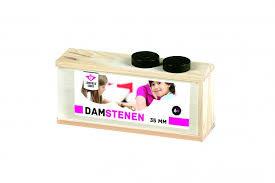 Engelhart Damstenen 35 mm. in houten kistje.