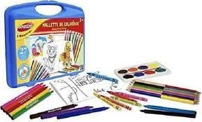 Joustra kleur koffer compleet met stiften en potloden.