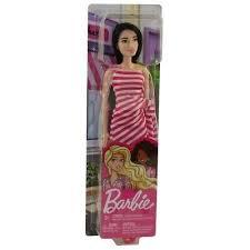 Barbie tienerpop ,met donkerhaar en roze jurk.