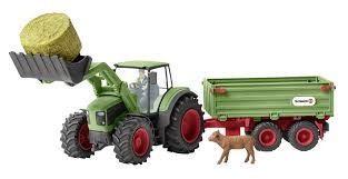 Schleich Tractor met Aanhanger