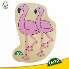 Lena leren rijgen met deze Flamingo