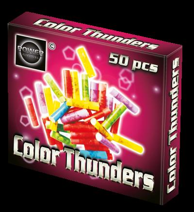 Color thunder 50 stuks in verpakking Cat 1 vuurwerk.