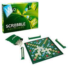 Scrabble het kruiswoordpuzzel spel van Mattel.