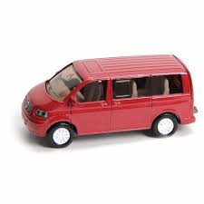 Siku volkswagen multivan transsporter rood.