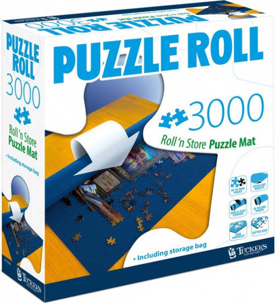 Puzzel rol oprolbare mat tot 3000 stukjes.