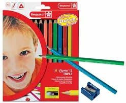 Bruynzeel triple potloden 12 stuks.