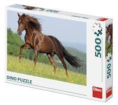 Dino Puzzel 500 stukjes Paard In De Wei