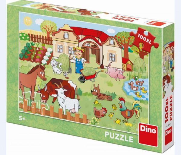 Dino Boerderij Puzzel 100XL Stukjes-Copy