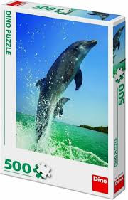 Dino Puzzel 500 stukjes Dolfijnen