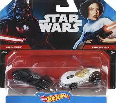 Starwarsv auto's van hotwheels, Darth vader met Princess leia.
