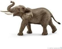Schleich afrikaanse olifant mannelijk.