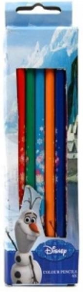 Frozen kleurpotloden in doosje 6 stuks.