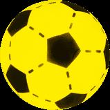 Gele sponge bal 20 cm doorsnee.