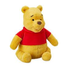 Winnie the pooh beer van pluche op kaart.