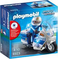 PLAYMOBIL City Action Politiemotor met Led-Licht