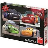 Dino Puzzel Cars 3 Rivalen 4x54 stukjes