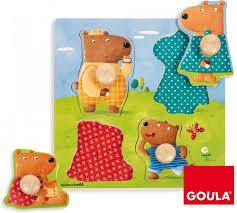 Goula knopjes puzzel met 4 beren.